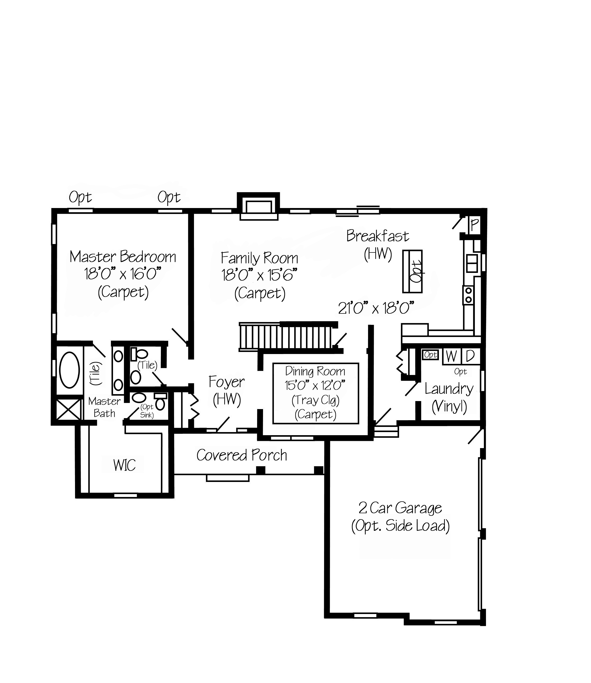 100 saratoga new home plan in 668876542709767 for Saratoga homes floor plans